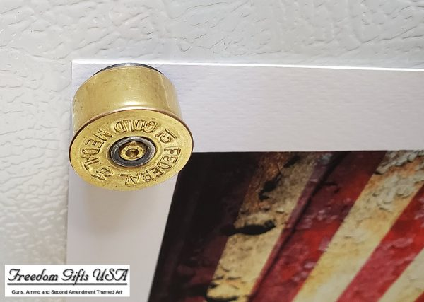 12 Gauge Shotgun Shell Magnets close up