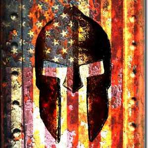 Molon Labe - American Flag and Spartan Helmet