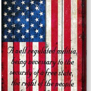 Distressed American Flag & 2nd Amendment Print