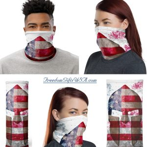 Distressed American Flag Spartan Helmet Neck Gaiter