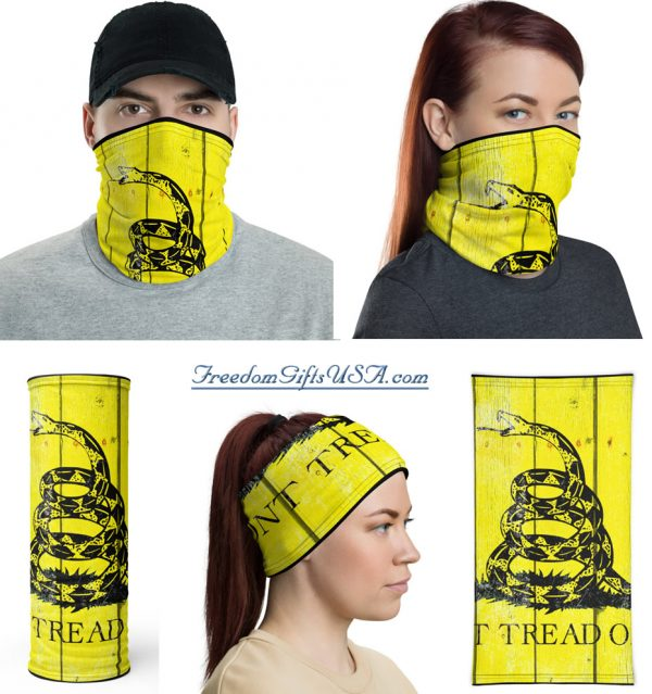 Don't tread on me - Gadsden Flag on Wood Neck Gaiter Combo