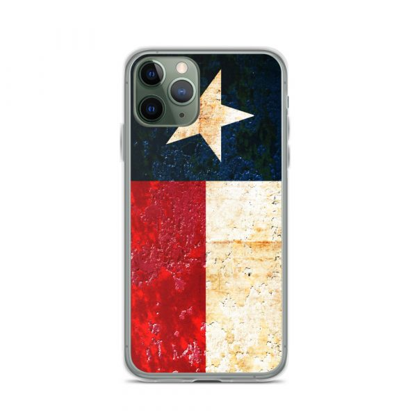 iPhone 11 Pro Case Texas flag on Rust Print