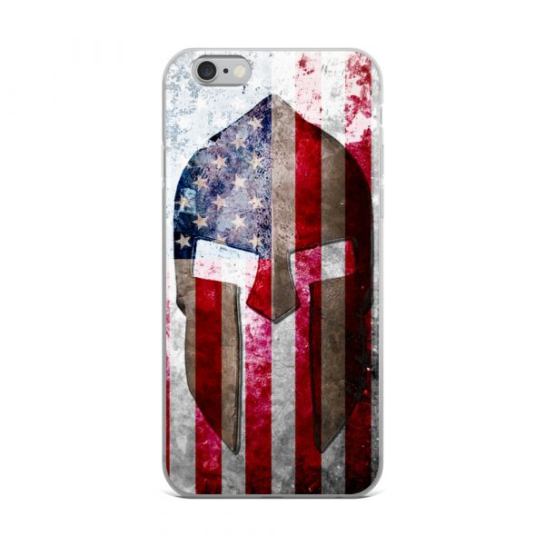 iPhone 6 Case – Molon Labe – Spartan Helmet on Distressed American Flag