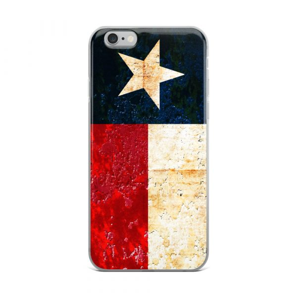 iPhone 6 plus Case Texas flag on Rust Print