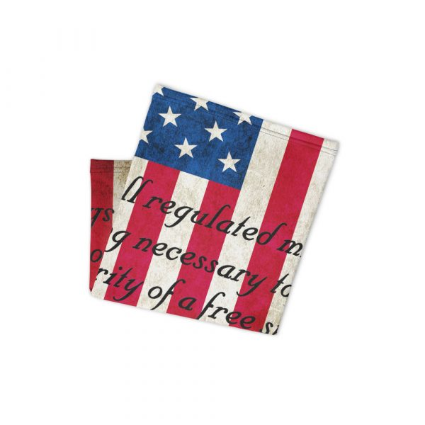 American Flag with 2nd Amendment Neck Gaiter folded