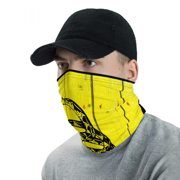 right view of Don't Tread on Me - Gadsden Flag Neck Gaiter and face mask