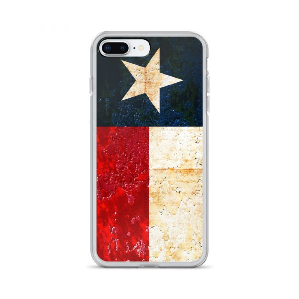 iPhone 7 plus 8 plus Case Texas flag on Rust Print