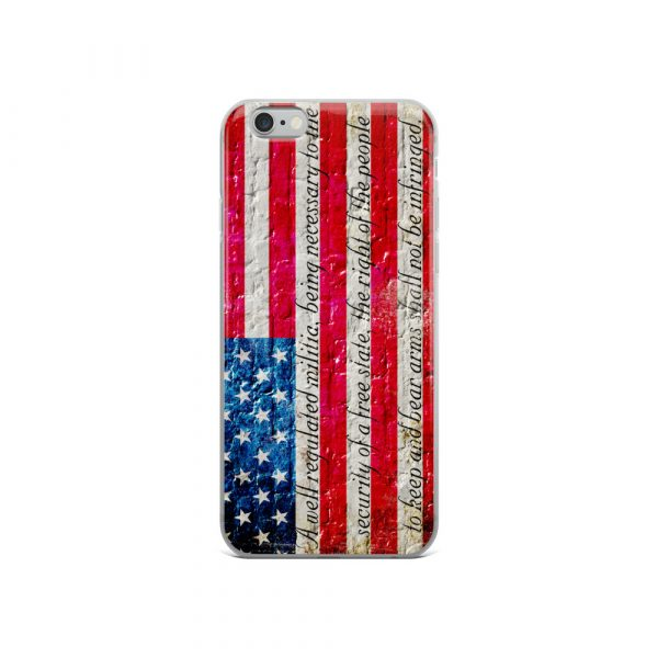 iPhone 6/6s Case – American Flag & 2nd Amendment on Brick Wall Print