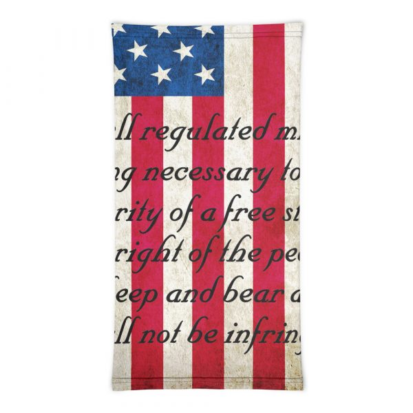 American Flag with 2nd Amendment Neck Gaiter flat