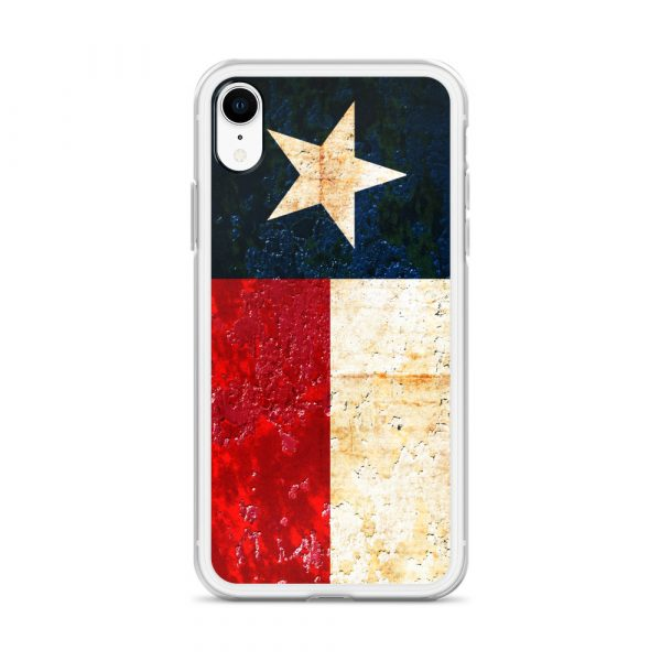 iPhone XR Case Texas flag on Rust Print