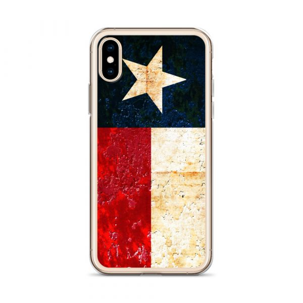 iPhone Case X/XS Texas flag on Rust Print