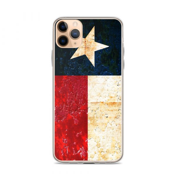 iPhone Case 11 Pro Max Texas flag on Rust Print