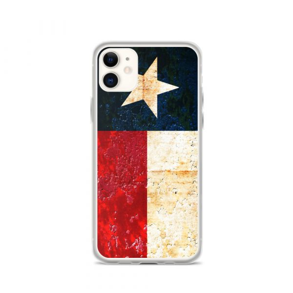 iPhone 11 Case Texas flag on Rust Print
