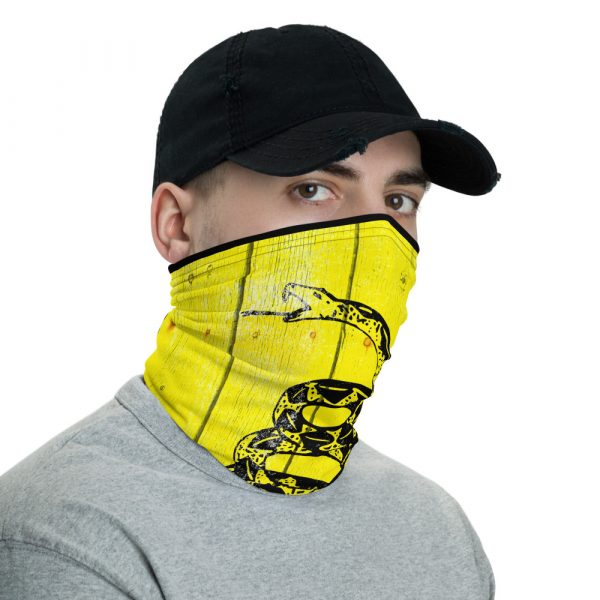 left view of Don't Tread on Me - Gadsden Flag Neck Gaiter and face mask