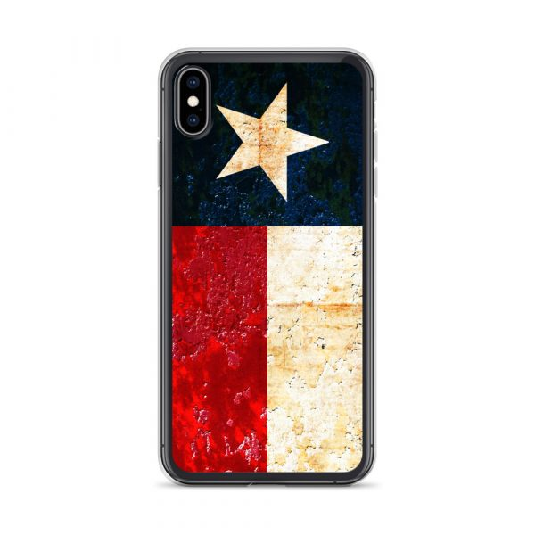 iPhone XS Max Case Texas flag on Rust Print