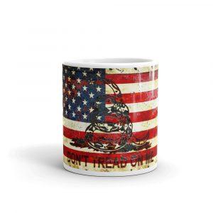 11oz Mug - Don't Tread On Me – Gadsden & American Flag Composition