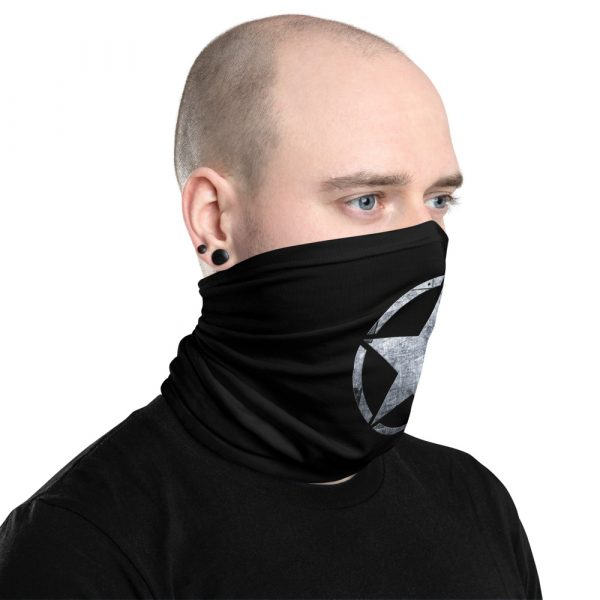 Small Army Star on Steel Neck Gaiter Face Mask Right view