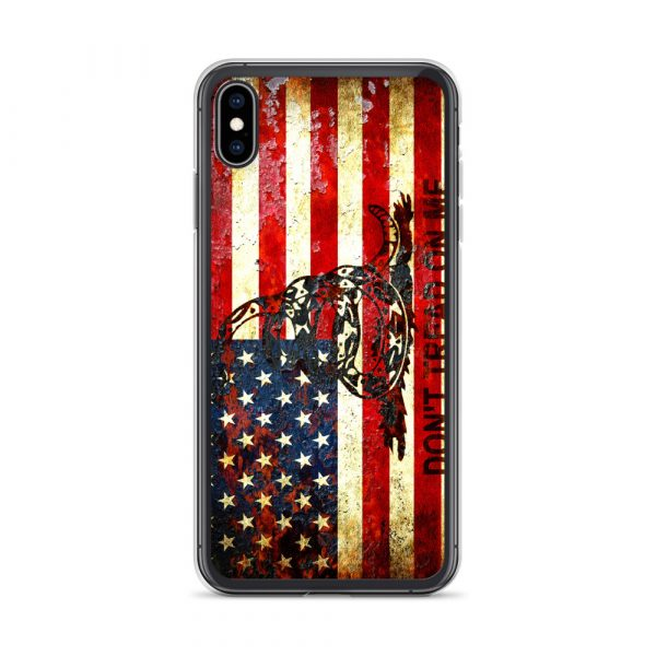 Don't Tread On Me – Gadsden & American Flag Composition on iPhone XS MAxcase