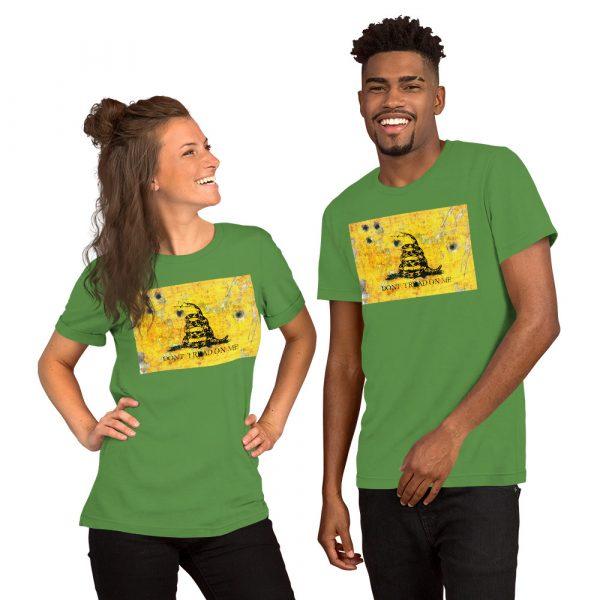 Green Unisex T-Shirt Gadsden Flag Bullet Holes