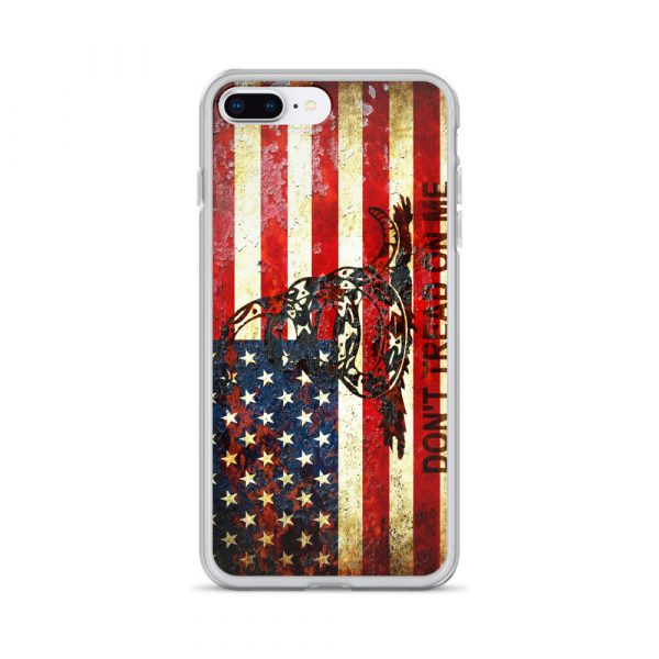 Don't Tread On Me – Gadsden & American Flag Composition on iPhone 7 Max case