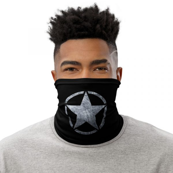 Small Army Star on Steel Neck Gaiter Face Mask