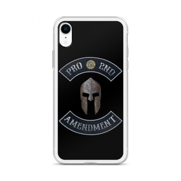 Pro 2nd Amendment with Spartan Helmet iPhone XR Case