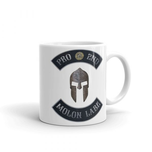Pro 2nd Amendment - Molon Labe - Spartan Helmet 11 oz Mug right side