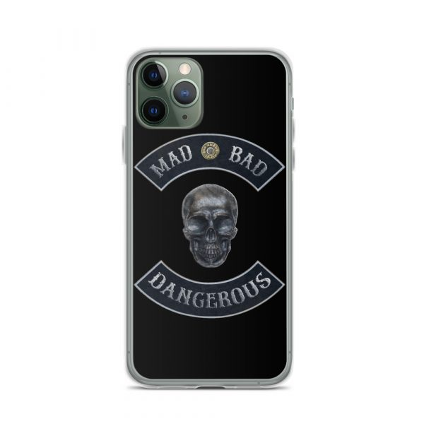 Mad Bad Dangerous Rocker with Skull iPhone 11 Pro case