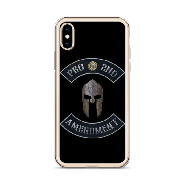 Pro 2nd Amendment with Spartan Helmet iPhone 10 Case