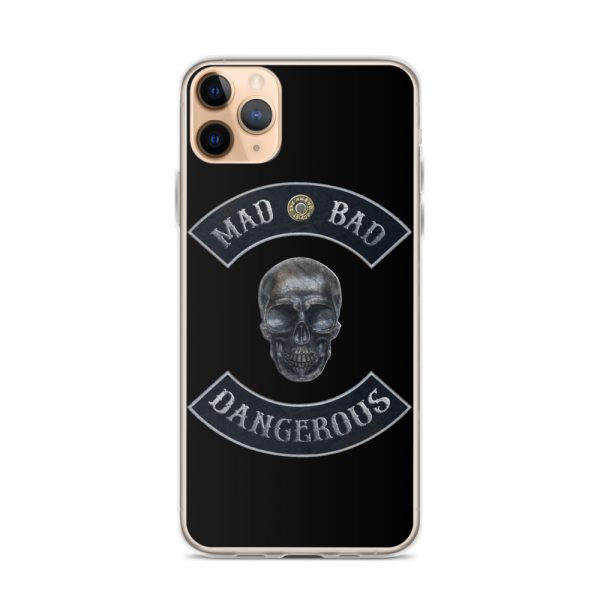 Mad Bad Dangerous Rocker with Skull iPhone 11 Pro Max case