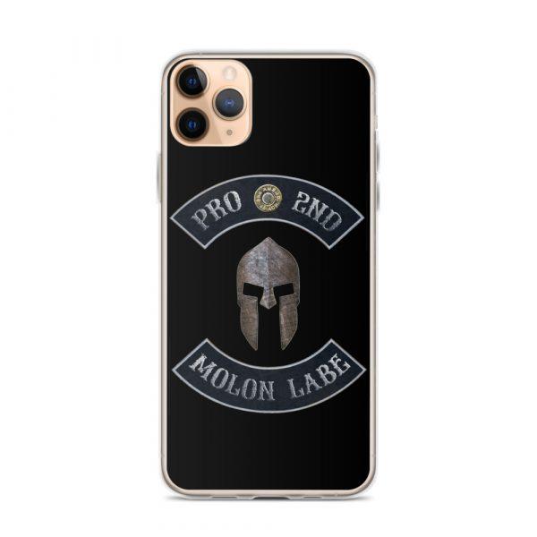 Pro 2nd Amendment - Molon Labe - Spartan Helmet iPhone 11 Pro Max case
