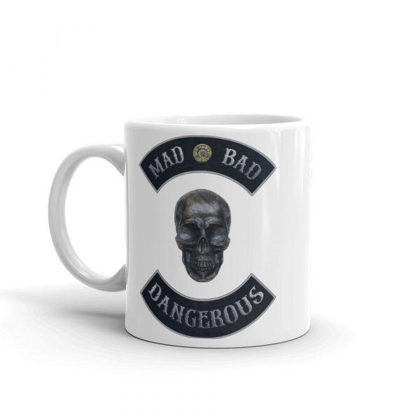 Mad Bad and Dangerous Rockers with Skull 11 oz Mug