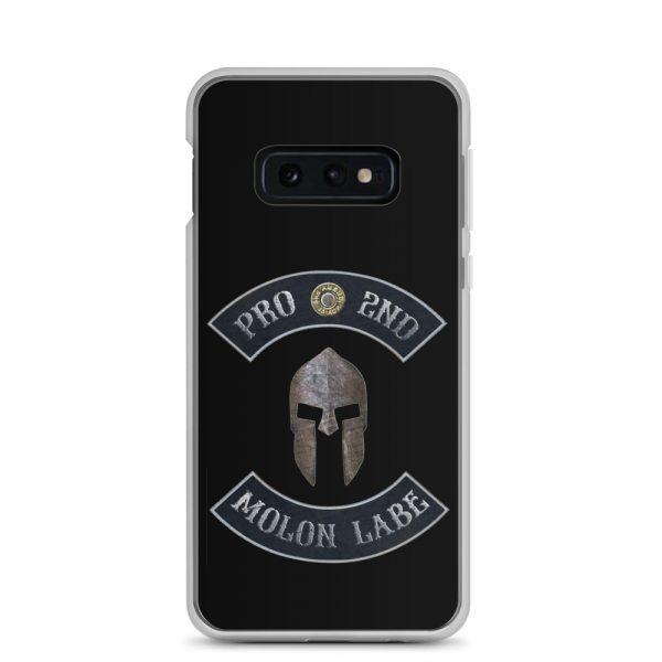 Pro 2nd Amendment – Molon Labe – Spartan Helmet Samsung Galaxy S10e Case