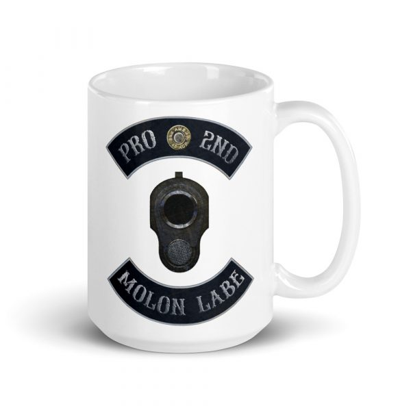Pro 2nd Amendment - Molon Labe - M1911 15 oz Mug right side