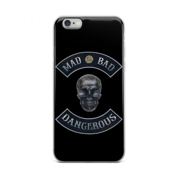 Mad Bad Dangerous Rocker with Skull iPhone 6 Plus case