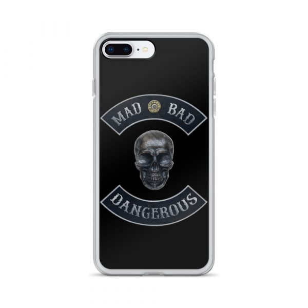 Mad Bad Dangerous Rocker with Skull iPhone 7/8 Plus case