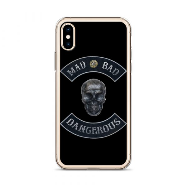 Mad Bad Dangerous Rocker with Skull iPhone X case