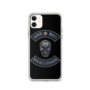 Mad Bad Dangerous Rocker with Skull iPhone 11 case