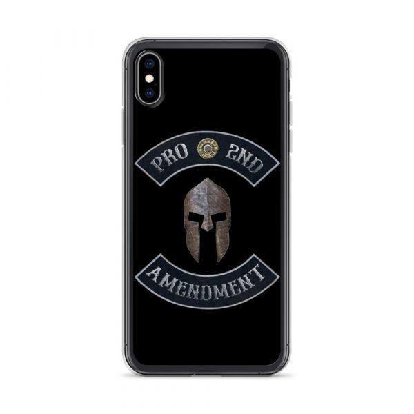 Pro 2nd Amendment with Spartan Helmet iPhone 10 Case