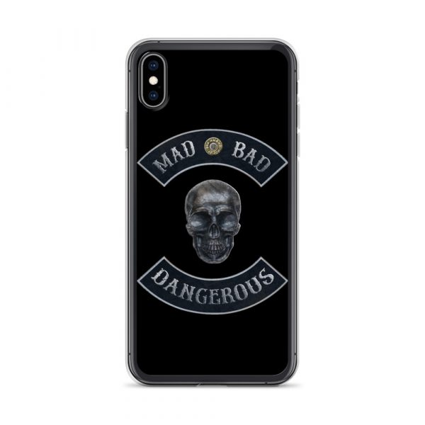 Mad Bad Dangerous Rocker with Skull iPhone XS Max case