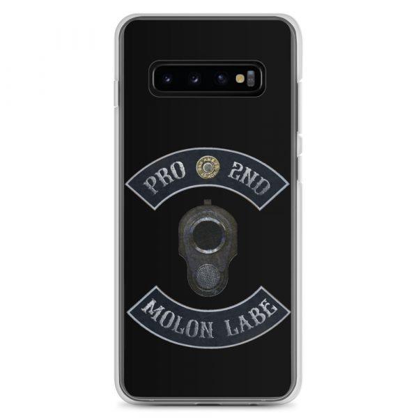 Pro 2nd Amendment - Molon Labe - M1911 Samsung Galaxy S10+ phone Case