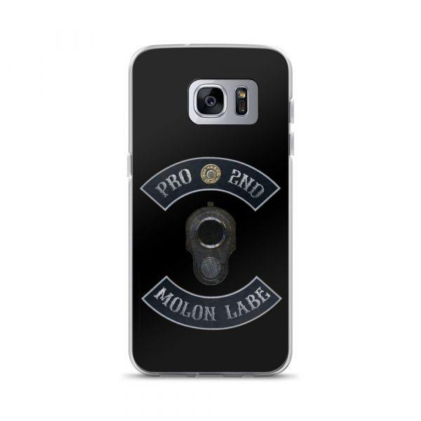 Pro 2nd Amendment - Molon Labe - M1911 Samsung Galaxy S7 edge Phone Case