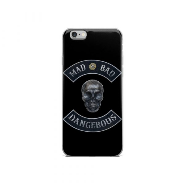 Mad Bad Dangerous Rocker with Skull iPhone 6 case