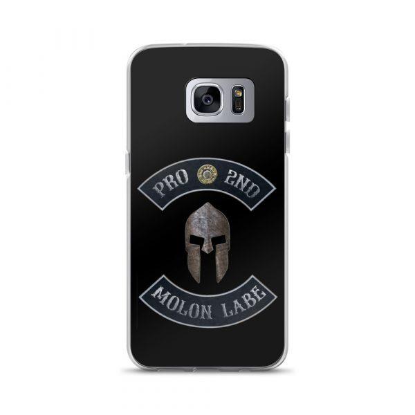 Pro 2nd Amendment – Molon Labe – Spartan Helmet Samsung Galaxy S7 edge Case