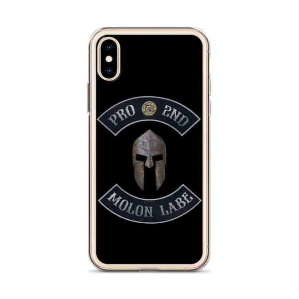 Pro 2nd Amendment - Molon Labe - Spartan Helmet iPhone X case