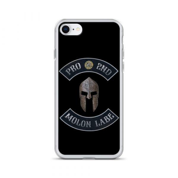 Pro 2nd Amendment - Molon Labe - Spartan Helmet iPhone 7/8 case