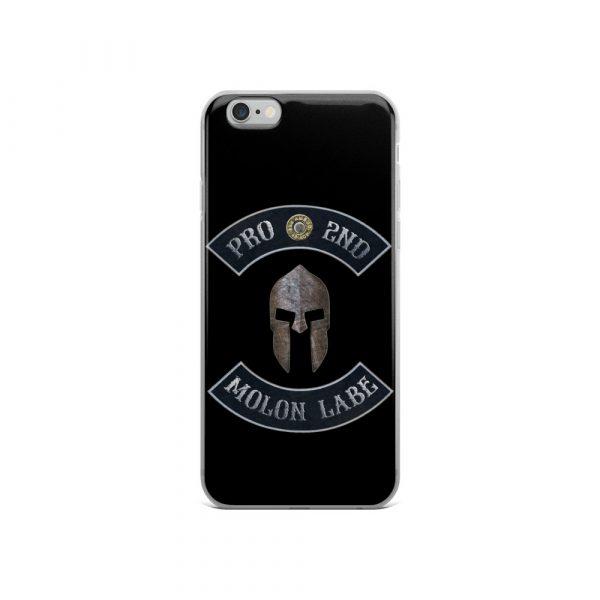 Pro 2nd Amendment - Molon Labe - Spartan Helmet iPhone 6 case