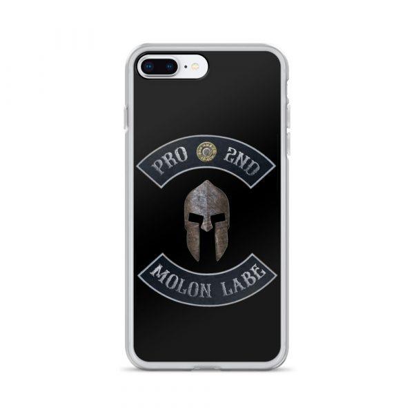 Pro 2nd Amendment - Molon Labe - Spartan Helmet iPhone 7/8 Plus case