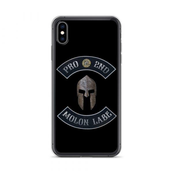 Pro 2nd Amendment - Molon Labe - Spartan Helmet iPhone 10 Black Case