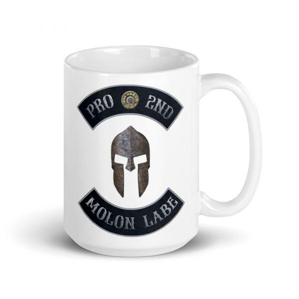 Pro 2nd Amendment - Molon Labe - Spartan Helmet 15 oz Mug right side